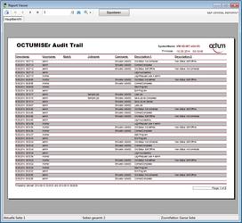 OCTUMISEr cfr audittrail  – Octum GmbH