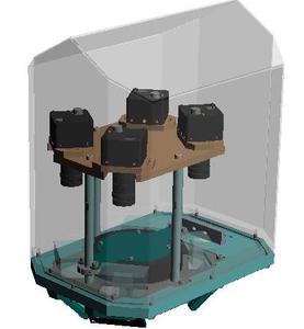 3D Konstruktion Bördelkappeninspektion mit 4 Kameras