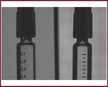 Misalignment of syringe tops