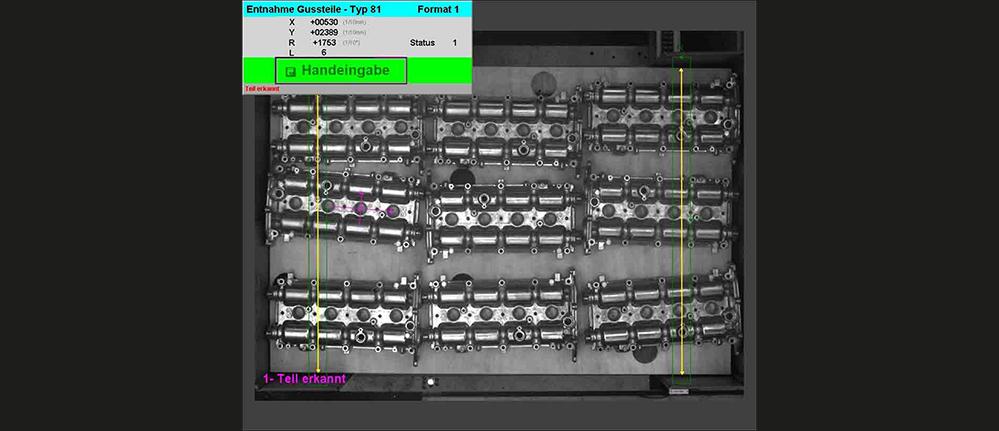 2D Roboterführung Depallettierung