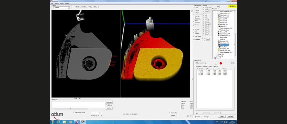 3D inspection indexable inserts system software view